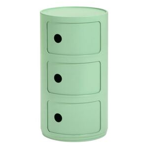 Componibili Bio Storage - / 3 drawers - Natural, biodegradable material by Kartell Green