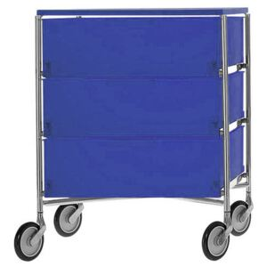 Mobil Mobile container - With 3 drawers by Kartell Blue