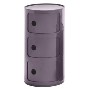 Componibili Storage - 3 drawers / H 58 cm by Kartell Purple
