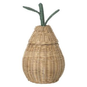 Pear Small Basket - / Wicker - Ø 19 x H 30 cm by Ferm Living Beige/Natural wood