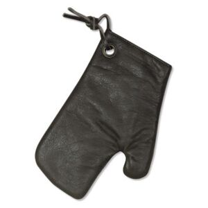 Oven glove - / Leather by Dutchdeluxes Grey