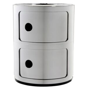 Componibili Storage by Kartell Grey/Silver/Metal