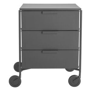 Mobil Mobile container - / 3 drawers - Matt version by Kartell Black