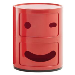 Componibili Smile N°3 Storage - / 2 draws - H 40 cm by Kartell Red