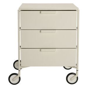 Mobil Mobile container - / 3 drawers - Matt version by Kartell White