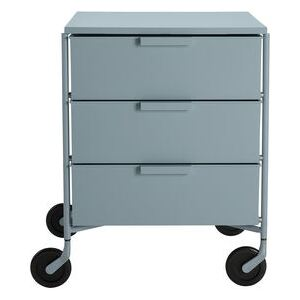 Mobil Mobile container - / 3 drawers - Matt version by Kartell Blue