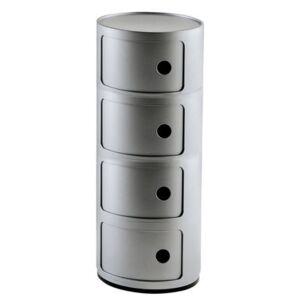 Componibili Storage - 4 drawers - H 77 cm by Kartell Grey/Silver