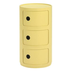Componibili Bio Storage - / 3 drawers - Natural, biodegradable material by Kartell Yellow