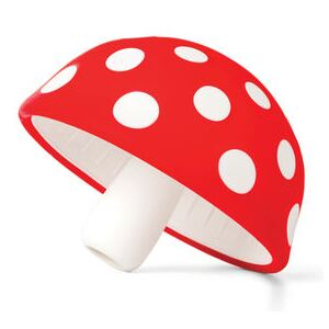 Magic Mushroom Funnel - / Flexible silicone by Pa Design White/Red