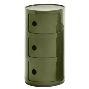 Componibili Storage - 3 drawers / H 58 cm by Kartell Green