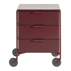 Mobil Mobile container - / 3 drawers - Matt version by Kartell Purple