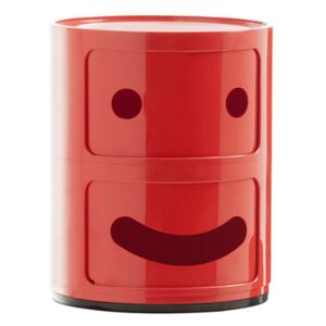 Componibili Smile N°1 Storage - / 2 draws - H 40 cm by Kartell Red