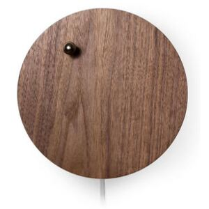 Story Clock - / Levitating ball by Flyte Natural wood