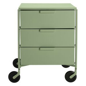 Mobil Mobile container - / 3 drawers - Matt version by Kartell Green