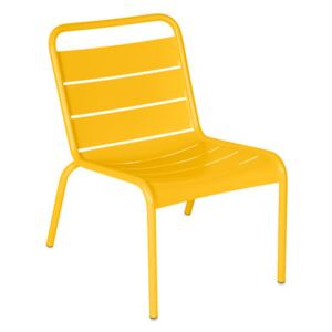 Luxembourg Lounge chair - / Low seat by Fermob Yellow