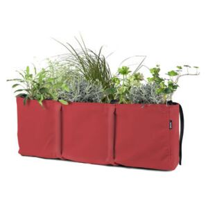 Accrochée 3 Window box to hang - / Batyline® Outdoor - 25 L by Bacsac Red