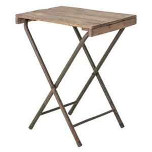 Small folding table - / Recycled wood - 67 x 50 cm by Bloomingville Natural wood