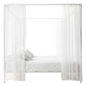 Illetto Four-poster bed - / 180 x 210 x H 210 cm - Steel & tulle by Opinion Ciatti White