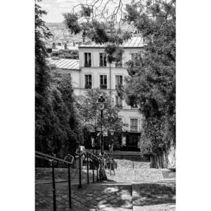 Art Photography Black Montmartre - Iconic Stairs, Philippe Hugonnard
