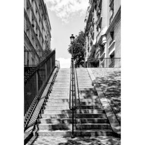 Art Photography Black Montmartre - Montmartre Staircases, Philippe Hugonnard