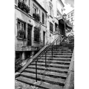 Art Photography Black Montmartre - French Stairs, Philippe Hugonnard