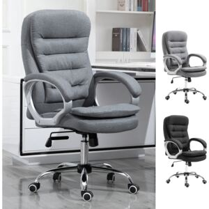 Vinsetto Office Chair Adjustable Height Lumbar Support Rock 360° Rolling Work