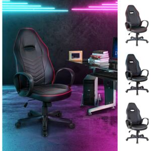 Vinsetto PU Leather Executive Office/ Gaming Chair Adjustable Padded Seat w/ Wheels