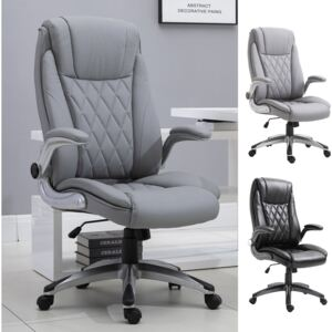 Vinsetto Office Chair Rocking 360° Smooth Rotating W/ Headrest Adjustable Height PU Leather