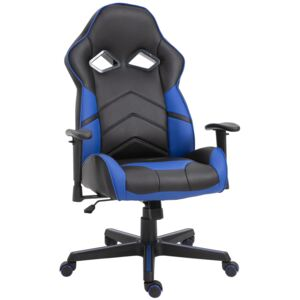 Vinsetto PU Leather Ergonomic Gaming Chair Blue/Black