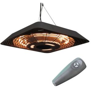 Outsunny 2000W Ceiling Mounted Halogen Electric Heater with Remote Control Black