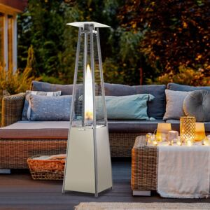 Outsunny Pyramid Patio Heater,Φ18.2x13.4H cm-Stainless Steel