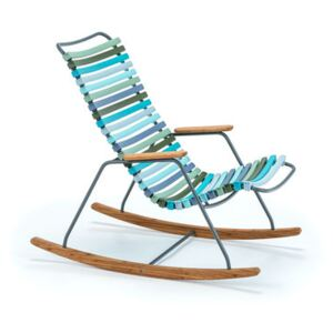 Click Children rocking chair - / Plastic & bamboo by Houe Multicoloured