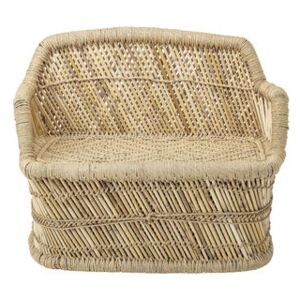 Children's sofa - / Bamboo & hessian - L 61 cm by Bloomingville Beige/Natural wood