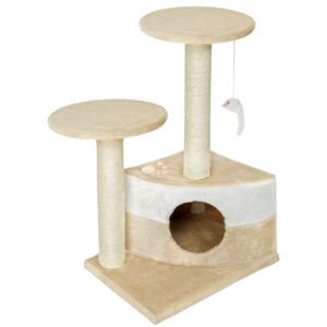 Tectake 400483 cat tree tommy - beige/white