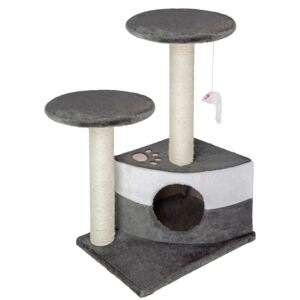 Tectake 400484 cat tree tommy - grey/white