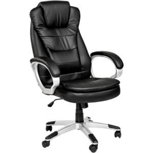 Tectake 400578 office chair with double padding - black