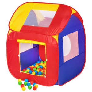 Tectake 400729 play tent with 200 balls pop up tent - colorful