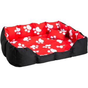 Tectake 400744 dog bed made of polyester - black/red/white