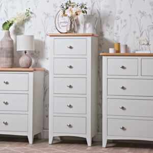 Gloucester White Painted 5 Drawer Tallboy