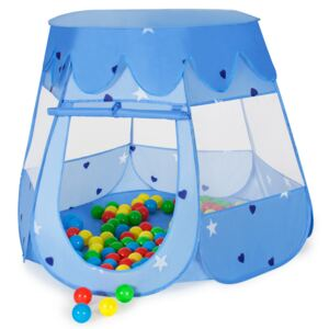 Tectake 400951 play tent with 100 balls for kids - blue
