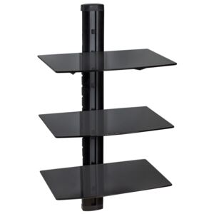 Tectake 401103 floating shelves with 3 tiers model 3 - black