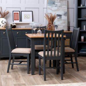 Gloucester Midnight Grey Painted Fixed Top Table