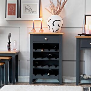 Gloucester Midnight Grey Painted Wine Cabinet