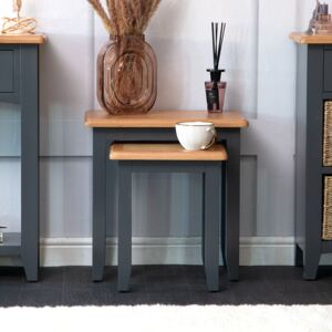 Gloucester Midnight Grey Painted Nest of 2 Tables