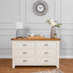 Hampshire Ivory Painted Oak 6 Drawer Chest