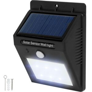 Tectake 401513 led solar wall light with motion detector - black