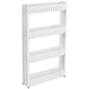 Tectake 401629 alcove shelf with 4 levels - white