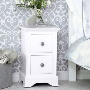 Banbury White Painted Small Bedside Table