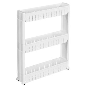 Tectake 401628 alcove shelf with 3 levels - white