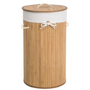 Tectake 401837 laundry basket with 57l laundry bag - beige